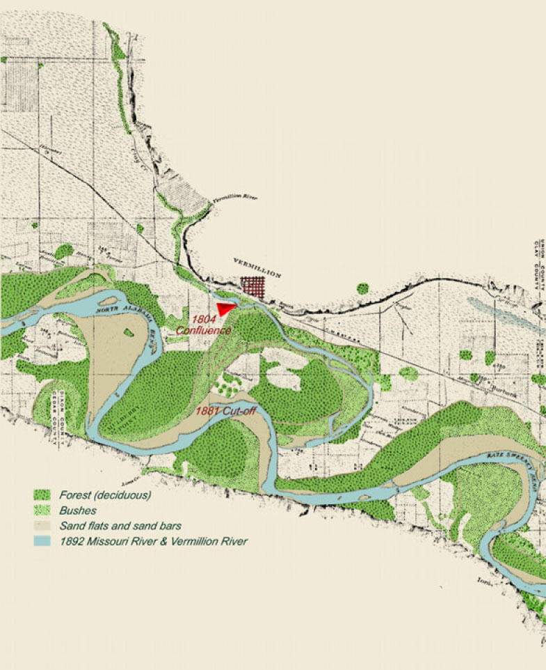 On The Lewis And Clark Trail - Missouri river map